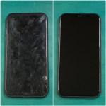 iPhone11の画面修理前と後