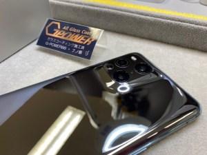 OPPOのFind X3 Proをガラスコーティング(背面アップ)