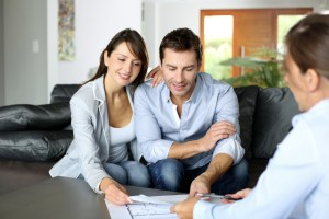 Home Buyer Reviewing House Inspection