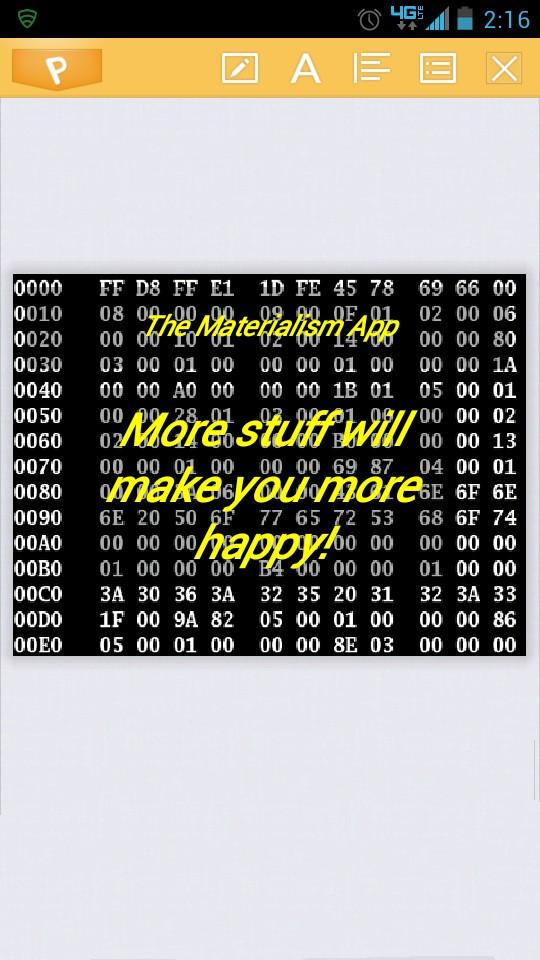Materialism App