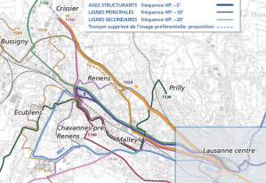 Masterplan for Lausanne's public transport network