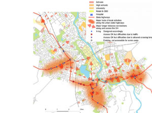 Hamilton, urban state highways assessment for walking and cycling