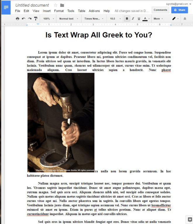 Newco Shift Wrap Text Around A Photo In Google Docs Without