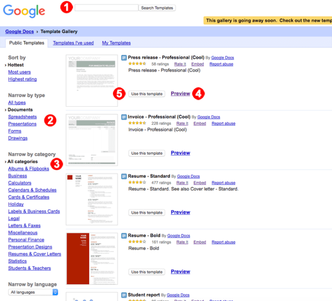 Newco Shift Google Drive S Public Templates Are Going Away So