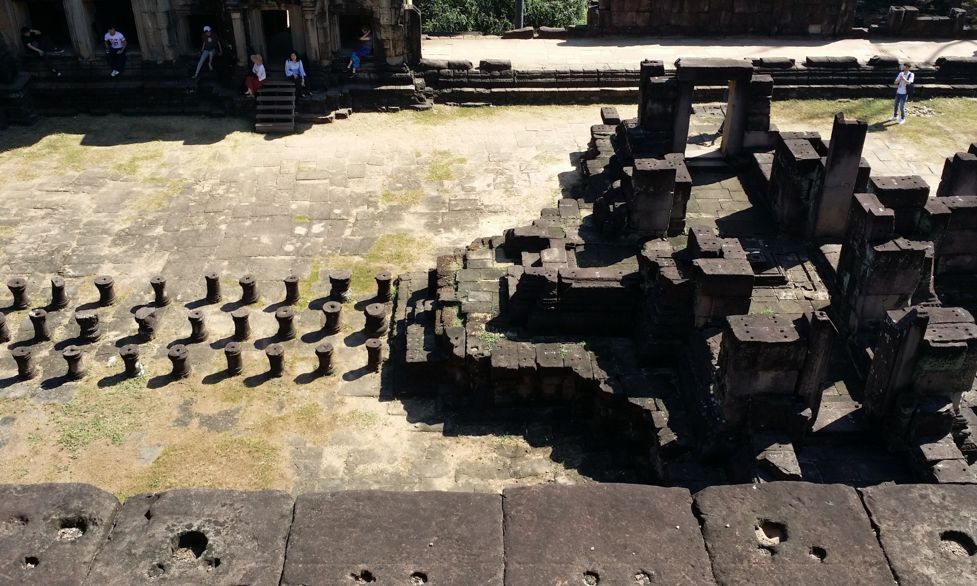 ruins of what was once a walkway/entrance to a Khmer temple