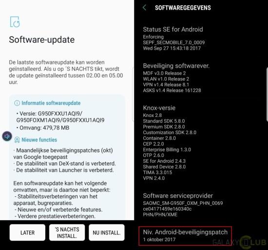 Galaxy S8 güncelleme