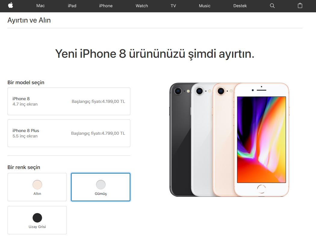 iPhone 8 Plus Satışa Sunuldu