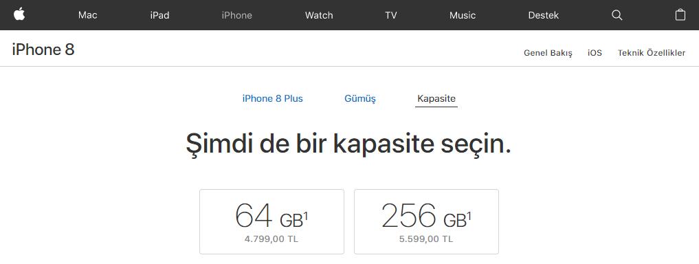 iPhone 8 Plus Türkiye fiyatı