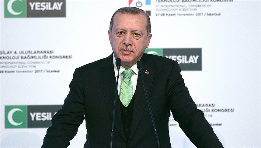 Cumhurbaşkanı Erdoğan Uluslararası Teknoloji Bağımlılığı Kongresi