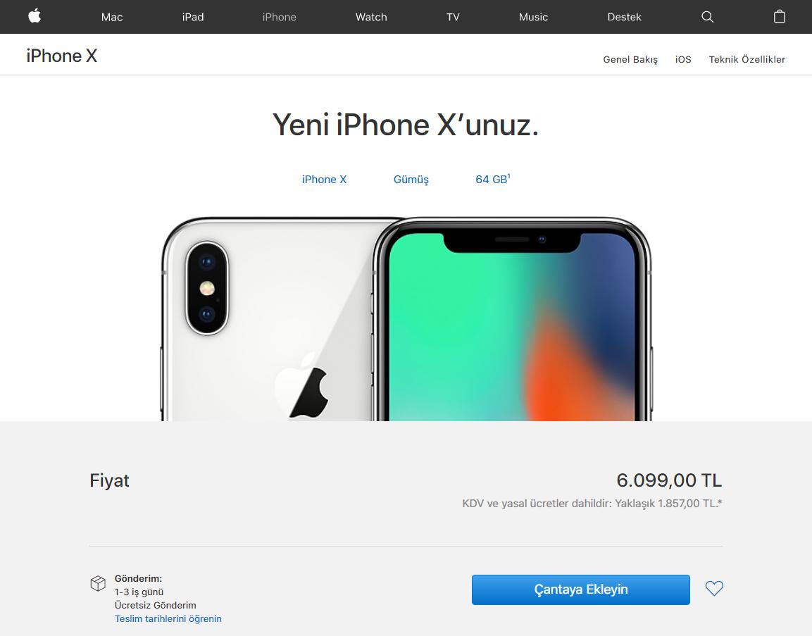 iPhone x satışa sunuldu - Türkiye fiyatı