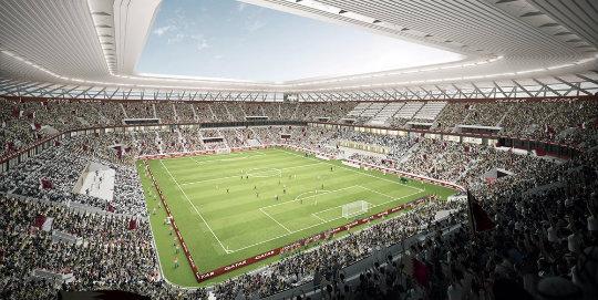 Sökülebilir ilk futbol stadı