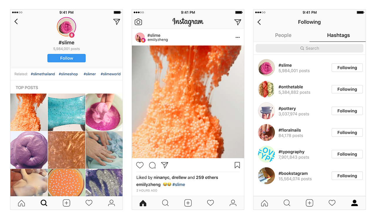 instagram hashtag özelliği, Instagram profil hashtag özelliği