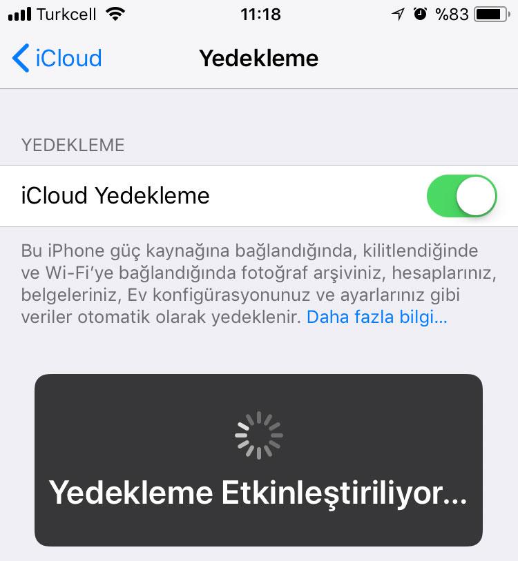 iOS 11 temiz kurulum