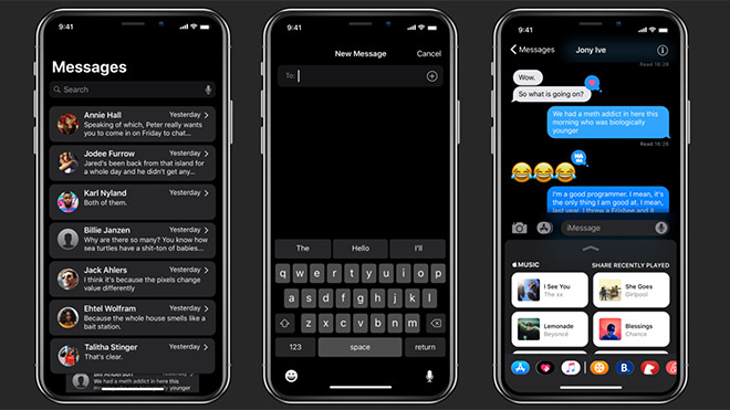 iPhone X Dark Mode