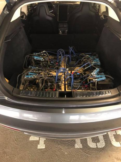 Model S ile sanal para madenciliği