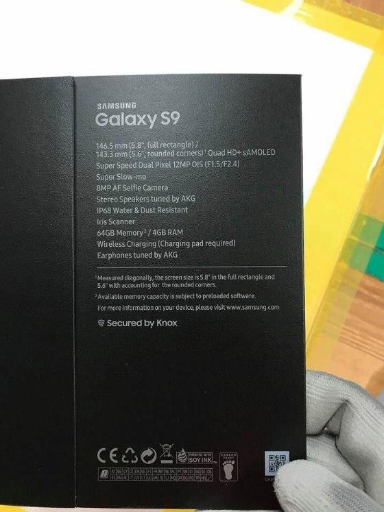 Galaxy s9 kutusu