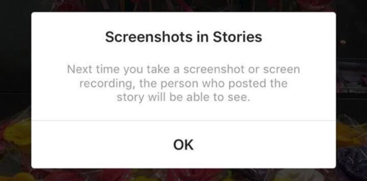 Instagram ekran görüntüsü uyarısı güncellemesi