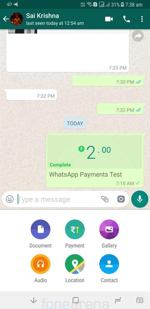 WhatsApp para gönderme