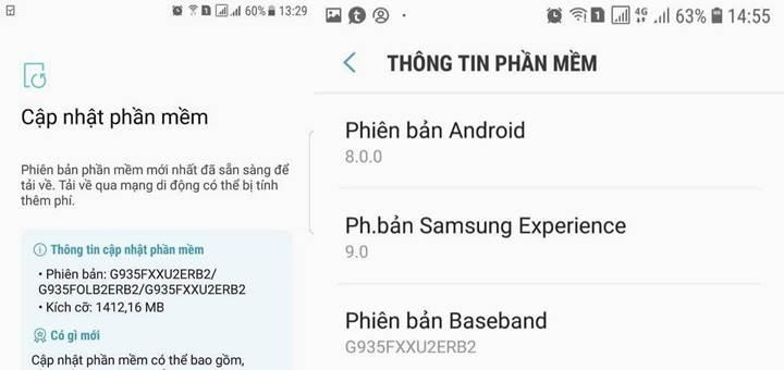s7 android oreo güncellemesi