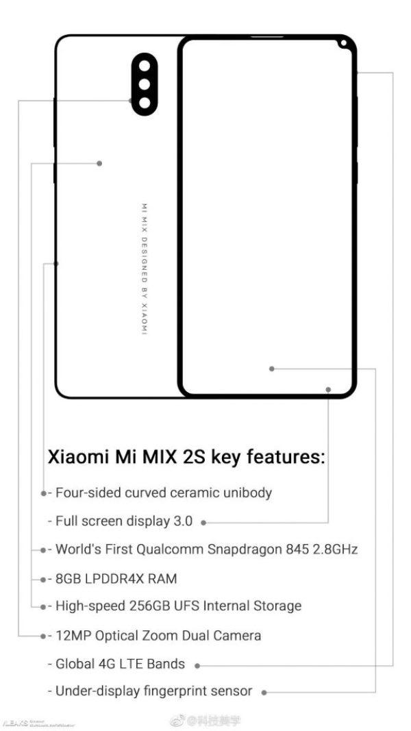 xiaomi mi mix2s özellikleri