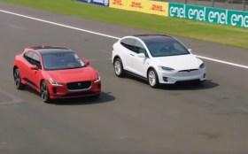 Elektrikli Jaguar Tesla Model X karşısında!