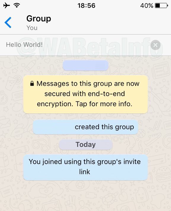 whatsapp grup sohbeti açıklaması