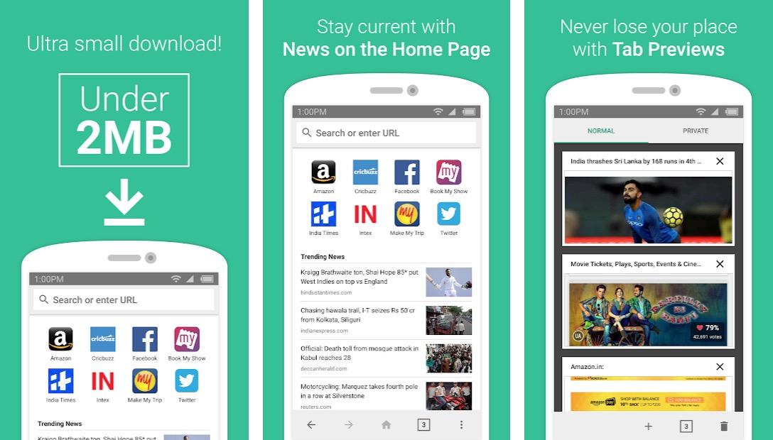 Android için internet tarayıcısı