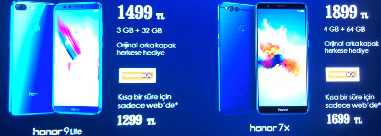 Honor 9 Lite ve Honor 7X Türkiye fiyatı ve özellikleri
