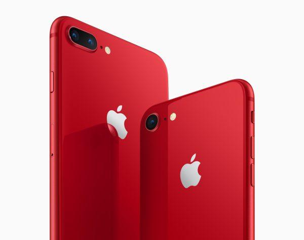 Kırmızı iPhone 8 ve iPhone 8 Plus