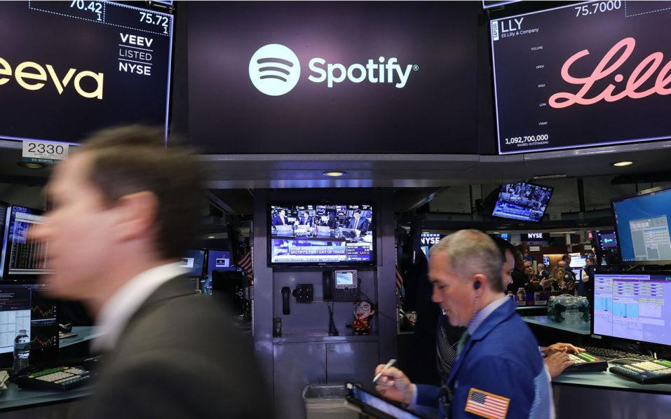 Spotify New York borsası