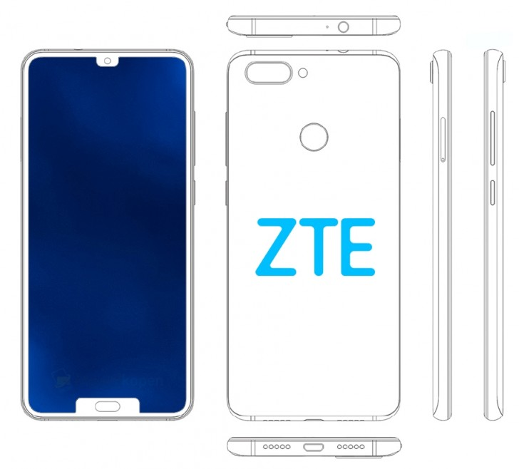 ZTE'den yeni çift çentikli ekran patenti!