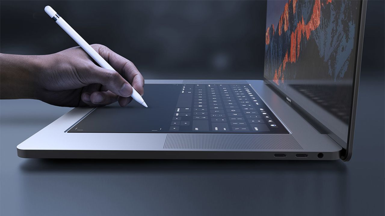 dokunmatik ekranlı Mac