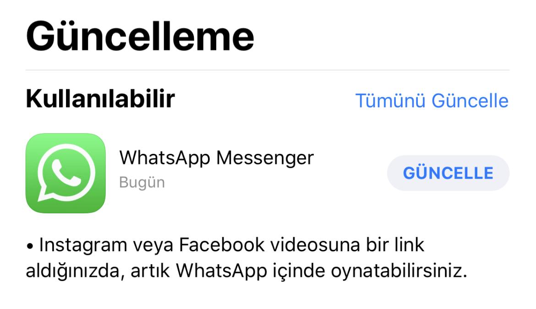 yeni whatsapp güncellemesi sdn 4