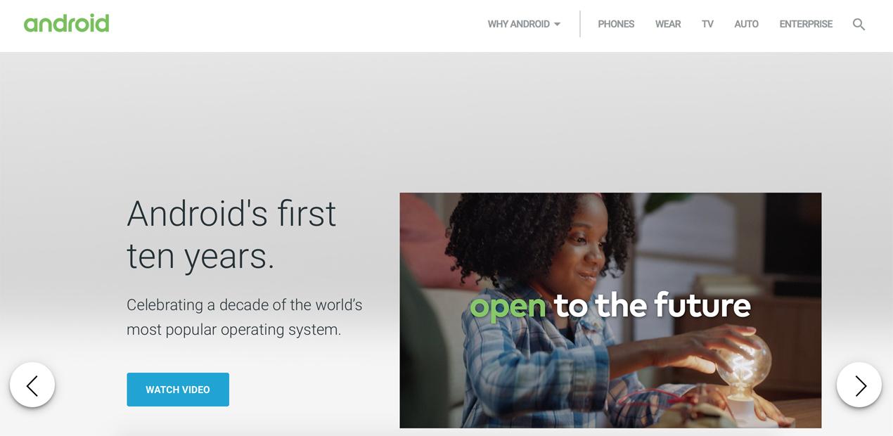 Android tabletler - Android internet sitesinden tabletler sayfası kaldırıldı