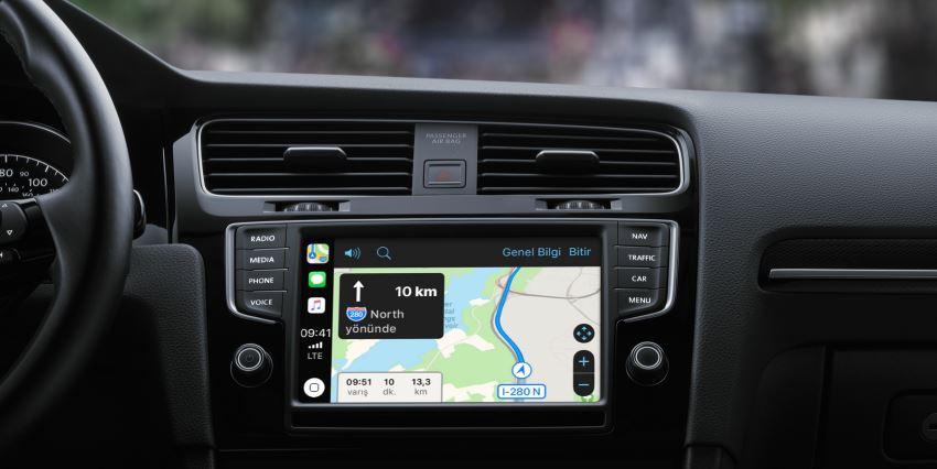 CarPlay Google Haritalar