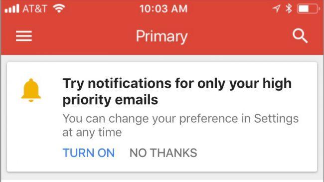 gmail bildirim