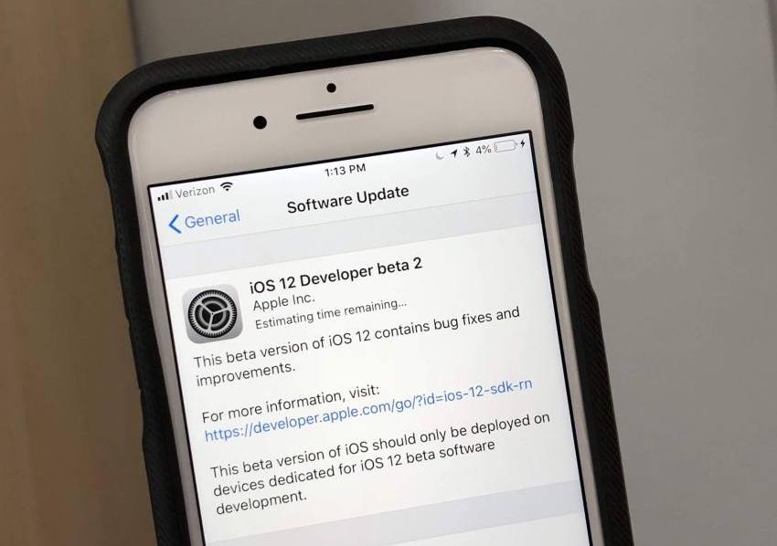 iOS 12 Beta 2