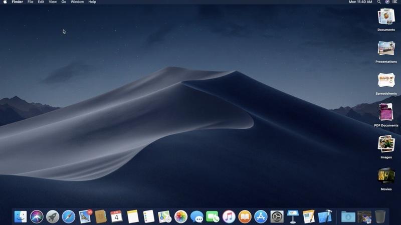 macOS Mojave 10.14 özellikleri