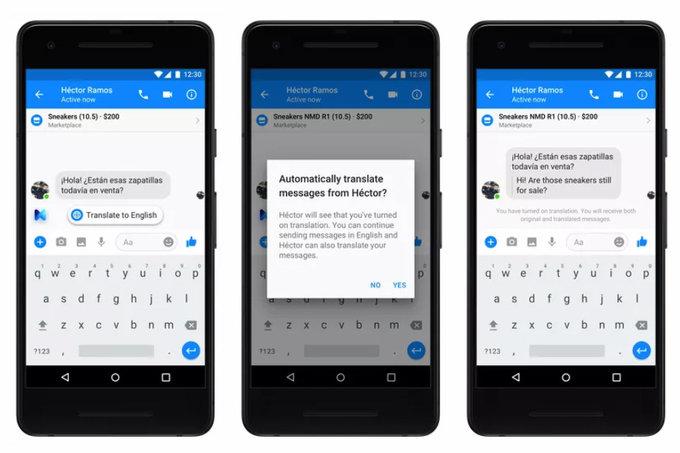 Facebook Messenger çeviri