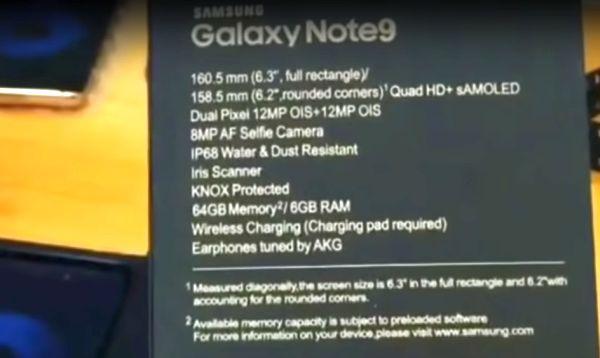Galaxy Note 9 kutu açılışı