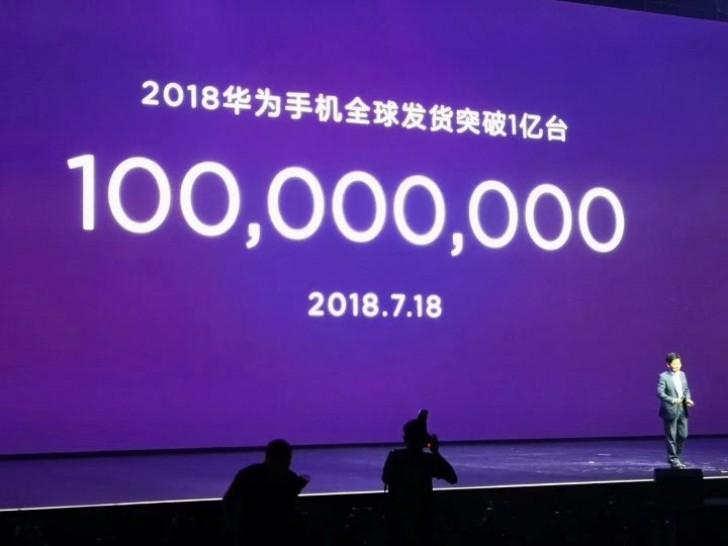Huawei 2018, 100 milyon telefon satış
