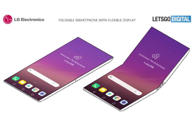LG katlanabilir telefonu
