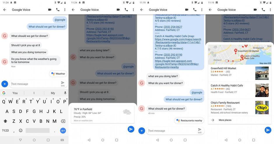 Android mesajlara Google Asistan entegrasyonu