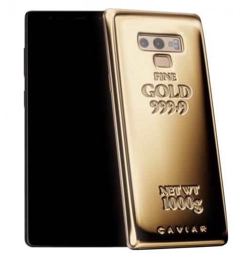 Altın kaplama Galaxy Note 9