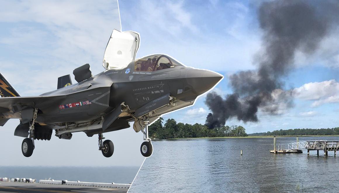 Tarihte bir ilk: F-35 savaş uçağı düştü!