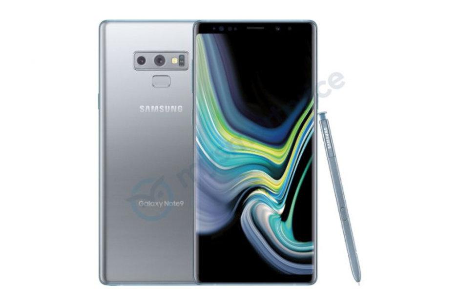 Galaxy Note 9 gümüş rengi