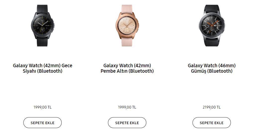 Galaxy Watch Türkiye fiyatı!