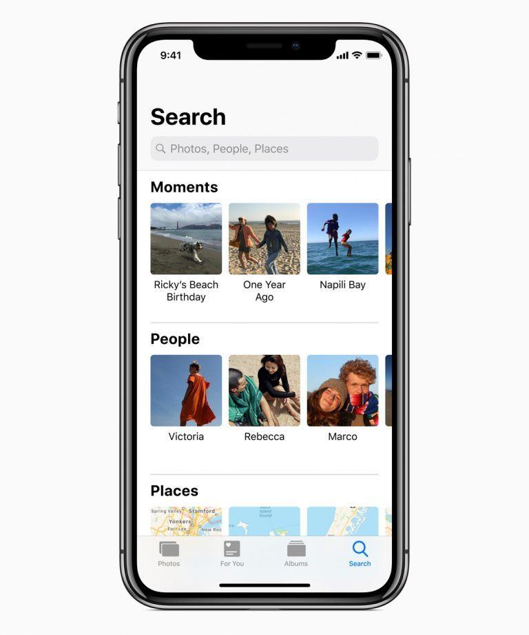 iOS 12 özellikleri fotoğraf arama