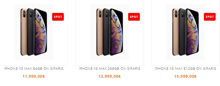 iPhone XS Max ve iPhone XR Türkiye fiyatı