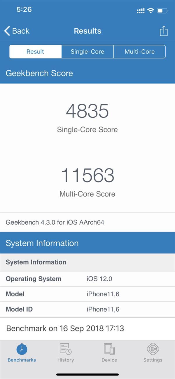 iPhone XS performans testi